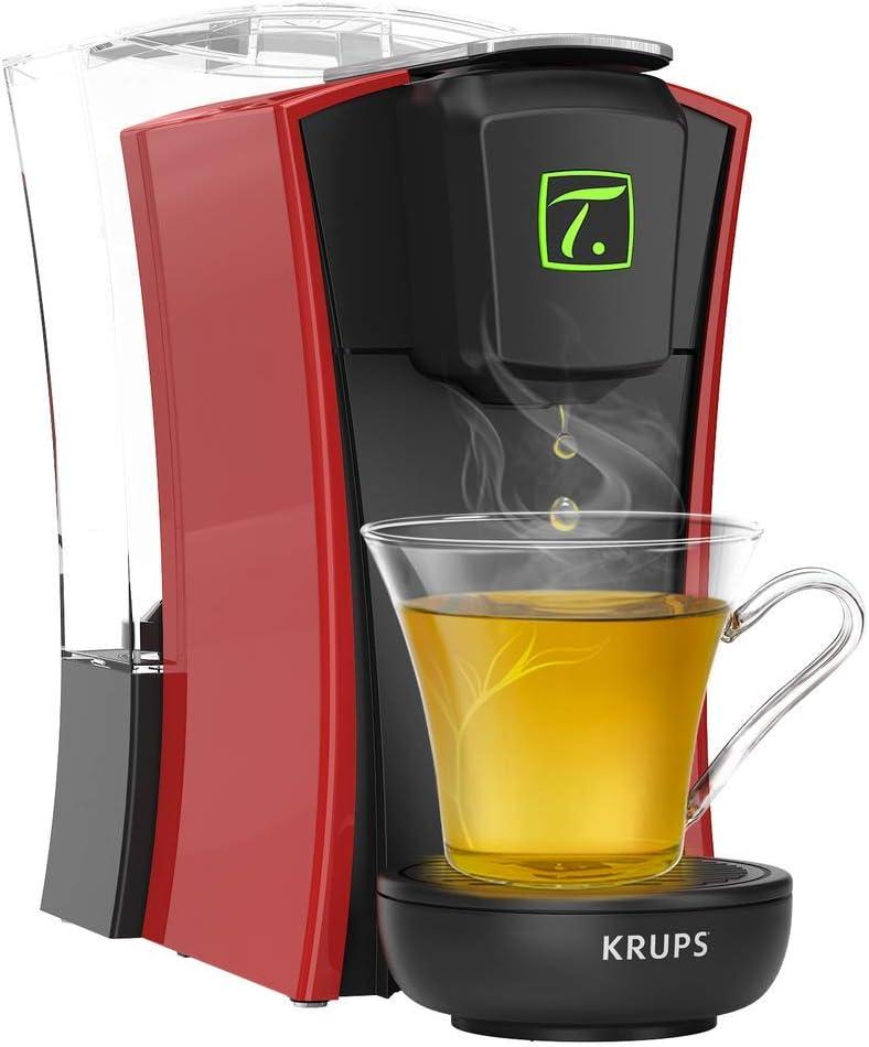 Krups Spécial T Machine à Thé Mini T Théière Electrique à Capsules Blanche YY4122FD Mini.T Rouge