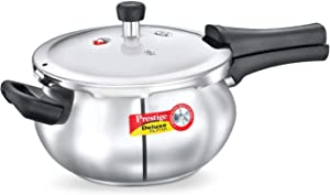 Prestige4.4-Liter Deluxe Alpha Induction Base Stainless Steel Junior Handi, Small, Silver