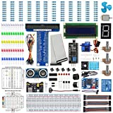 WayinTop Basic Starter Kit for Raspberry Pi 4 B 3 B+, Electronic Starter Kit with Detailed E-Book, Support C Language Python Java, Learning Electronics and Programming for Raspberry Pi Beginners
