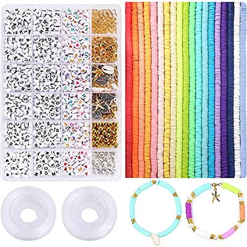 NXLWXN Cuentas de Colores, Set Mini Cuentas Abalorios Cristal para DIY Pulseras Collares Bisutería (24 Colores)