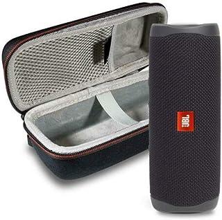 JBL Flip 5 Waterproof Portable Wireless Bluetooth Speaker Bundle with Hardshell Protective Case - Black