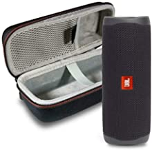 JBL Flip 5 Waterproof Portable Wireless Bluetooth Speaker Bundle with Hardshell Protective Case - Black