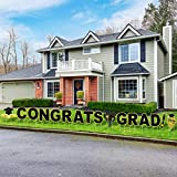 RUODON Congrats Grad Yard Signs Graduation Yard Signs Graduation Waterproof Lawn Decorations with Stakes for Graduation Party Outdoor Lawn Decorations