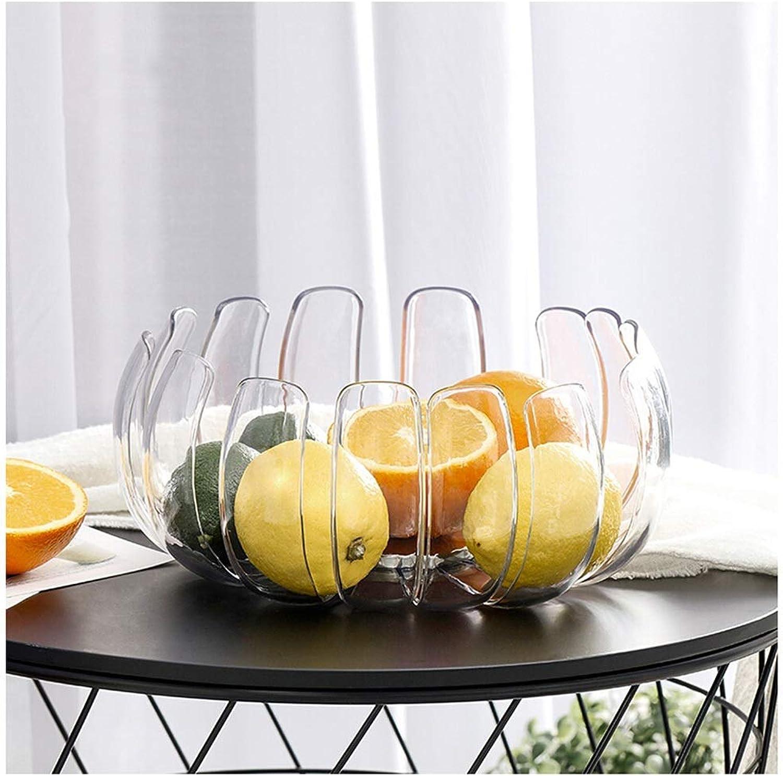 KISlink Panier à Fruits en Plastique en Acier Inoxydable en Forme de pétale, présentoir de Fruits de légumes de Cuisine