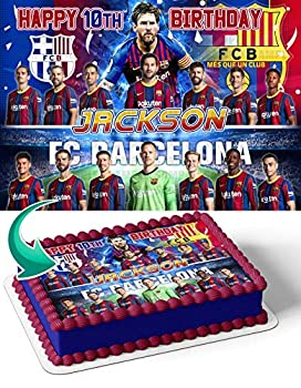 Cakecery FC Barcelona 2021 Personalized Edible Cake Topper 1/2 11.7 x 17.5 Birthday Cake Topper