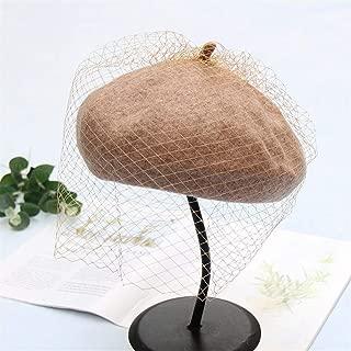 JUYOUSHENGKEJI and Winter Bud Painter Cap Girl's Hats British Retro Elegant Baronial Net Yarn Beret Distaff Tide