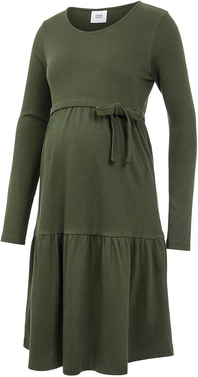 Mamalicious Mlkamina L//S Jersey Abk Dress A Robe Femme