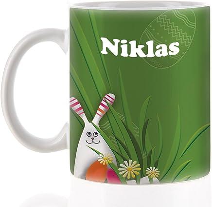 Preisvergleich für Striefchen® Osterhasen Tasse Name: Niklas