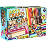 3 Layers Jumbo Arts and Crafts Supplies Kit Warehouse, Funkidz 1500+ Premium Craft Materials for Kids Creative Activities Stuff for Boys and Girls