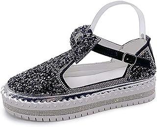 Damesmode Platform Loafers Met Ronde Neus, Zomer Casual Enkele Schoenen Comfortabele Ademende Antislip Slijtvaste Damessch...