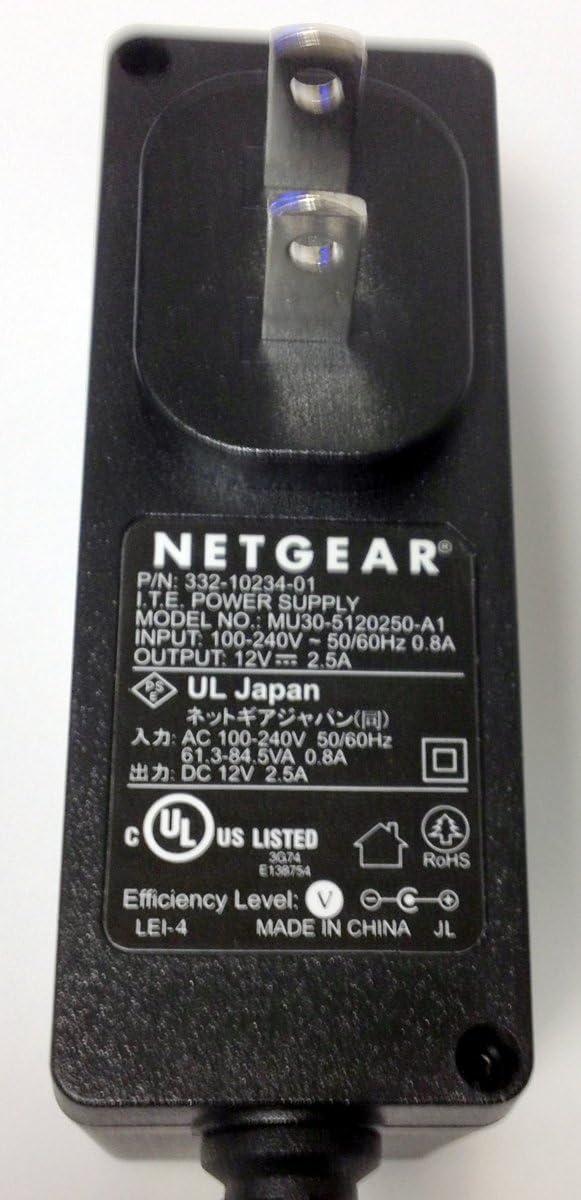 Genuine Netgear AC Adapter Power Supply 12V 2.5A Model: 332-10100-01 & MU30-5120250-A1
