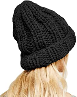G.C Women Winter Hat Thick Cable Knit Hat Soft Stretch Skull Cap Cuff Beanie Warm Knitted Hats