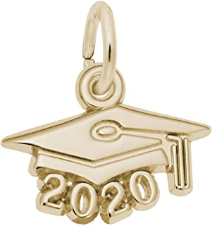 Graduation Cap w/Year 2020 Charm (Choose Metal) by Rembrandt