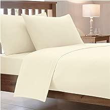 Drap de lit en polycoton peigné - Cotton Works, Tissu, crème, Drap-housse simple