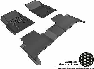 3D MAXpider Custom Fit Complete Floor Mat Set for Select GMC Canyon Models - Kagu Rubber (Black)