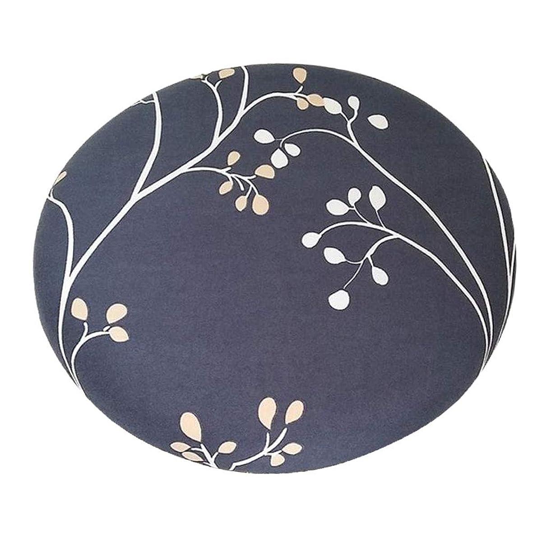 シャンパンアンビエント認証B Blesiya 丸椅子カバー 座布団カバー スツールクッション 直径約28-35cm ラウンド 取り付け簡単 全14色 - スタイル_5