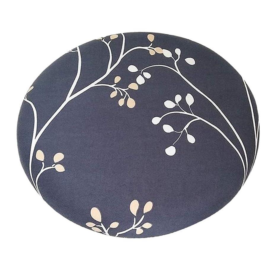 割り当てる民間ゴシップB Blesiya 丸椅子カバー 座布団カバー スツールクッション 直径約28-35cm ラウンド 取り付け簡単 全14色 - スタイル_5