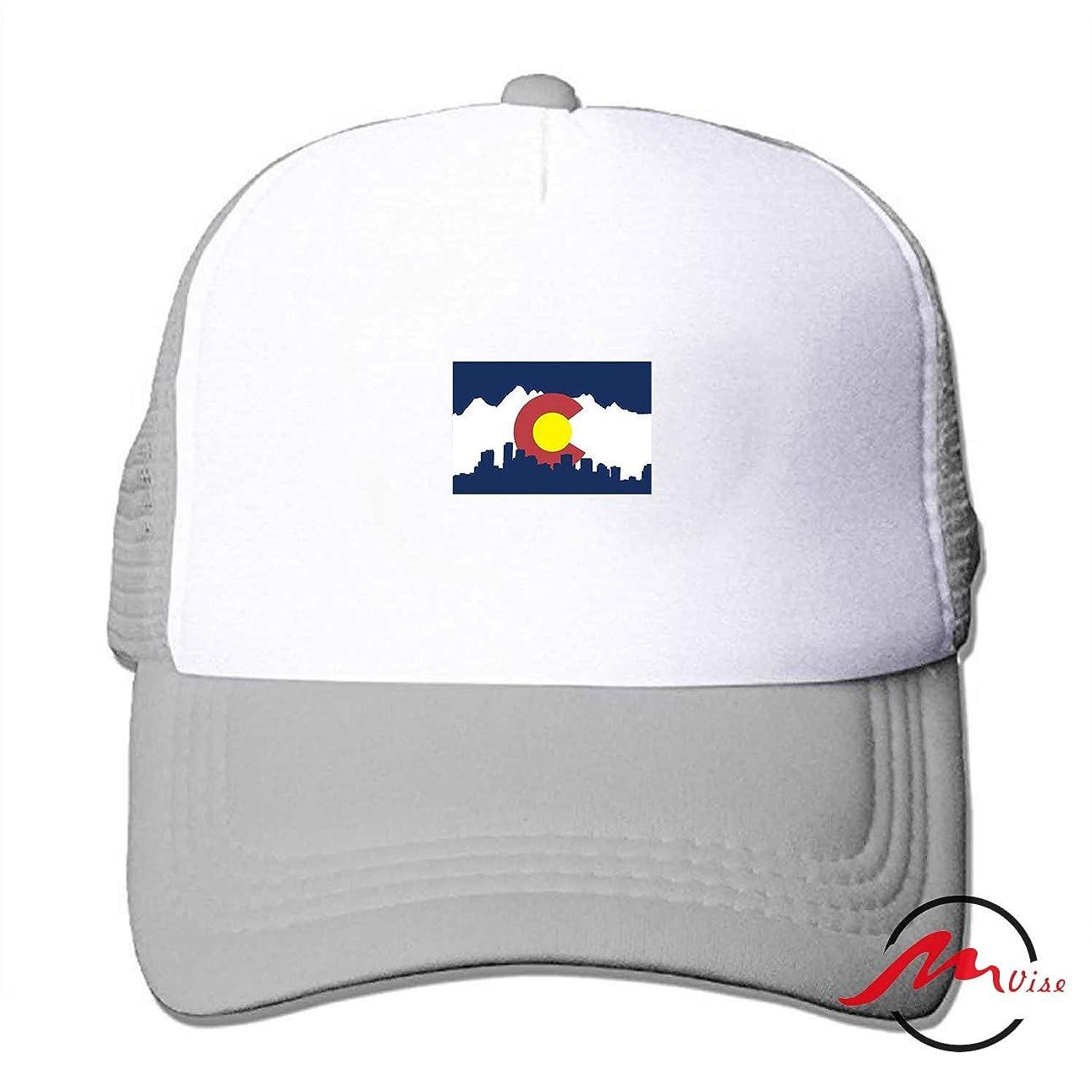 標準中級アメリカZMvise Colorado City Flag 男女兼用の十代の大人の習慣はかわいい野球帽のトラック運転手の網の帽子を印刷しました