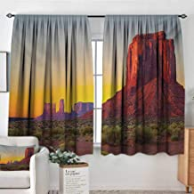 Mozenou Canyon Thermal Insulating Blackout Curtain Sunset in Famous Grand Canyon Antiquated Natural Wonders of World Heritage Photo Thermal Blackout Curtains 63