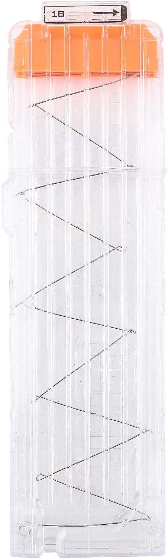 SUNGOOYUE Soft Bullet Clip 18 Dart Cartucho de plástico Dart Clips Holder Accesorio