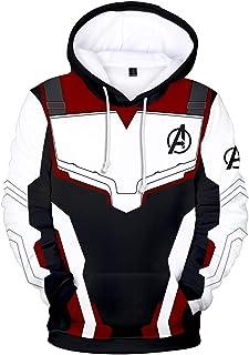 EUDOLAH Men's 3D Print Long Sleeve Hoodie Avengers Endgame MCU Series Film Zipper Jacket Superhero Fans Cosplay Sweatshirt