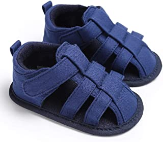 Meckior Save Beautiful Summer Baby Sandals Infant Boys Soft Sole Non-Slip First Walkers Shoes