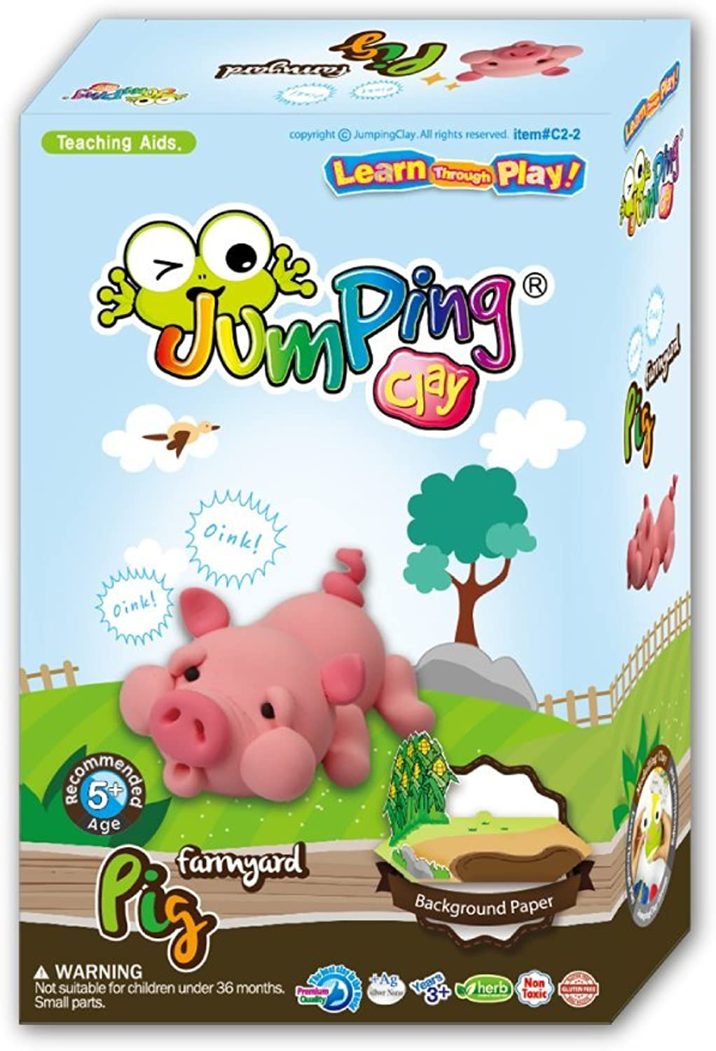 Pig - Kids Air Dry Modelling Clay Kit   Farmyard Animals by JumpingCLAY B01HVICF7E | Realistisch