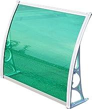 JIANFEI Deurluifel raamluifel, Patio polycarbonaat zon regenbescherming, buitenbeugel schuilluifel, 2 kleuren 7 maten aanp...