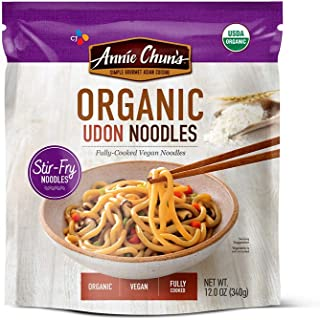 Annie Chun's Organic Stir-Fry Noodles, Udon, Fully-Cooked, Vegan, 12-Oz (Pack Of 6)