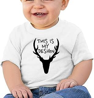 This is My Design A Deer Baby T-Shirt Kids Short Sleeve Top