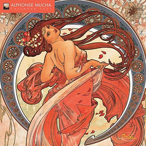 Alphonse Mucha – Alfons Mucha 2021: Original Flame Tree Publishing-Kalender [Kalender] (Wall-Kalender)
