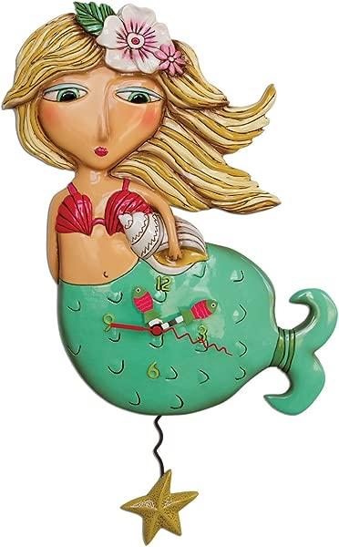 Allen Designs Shelley Mermaid Pendulum Clock