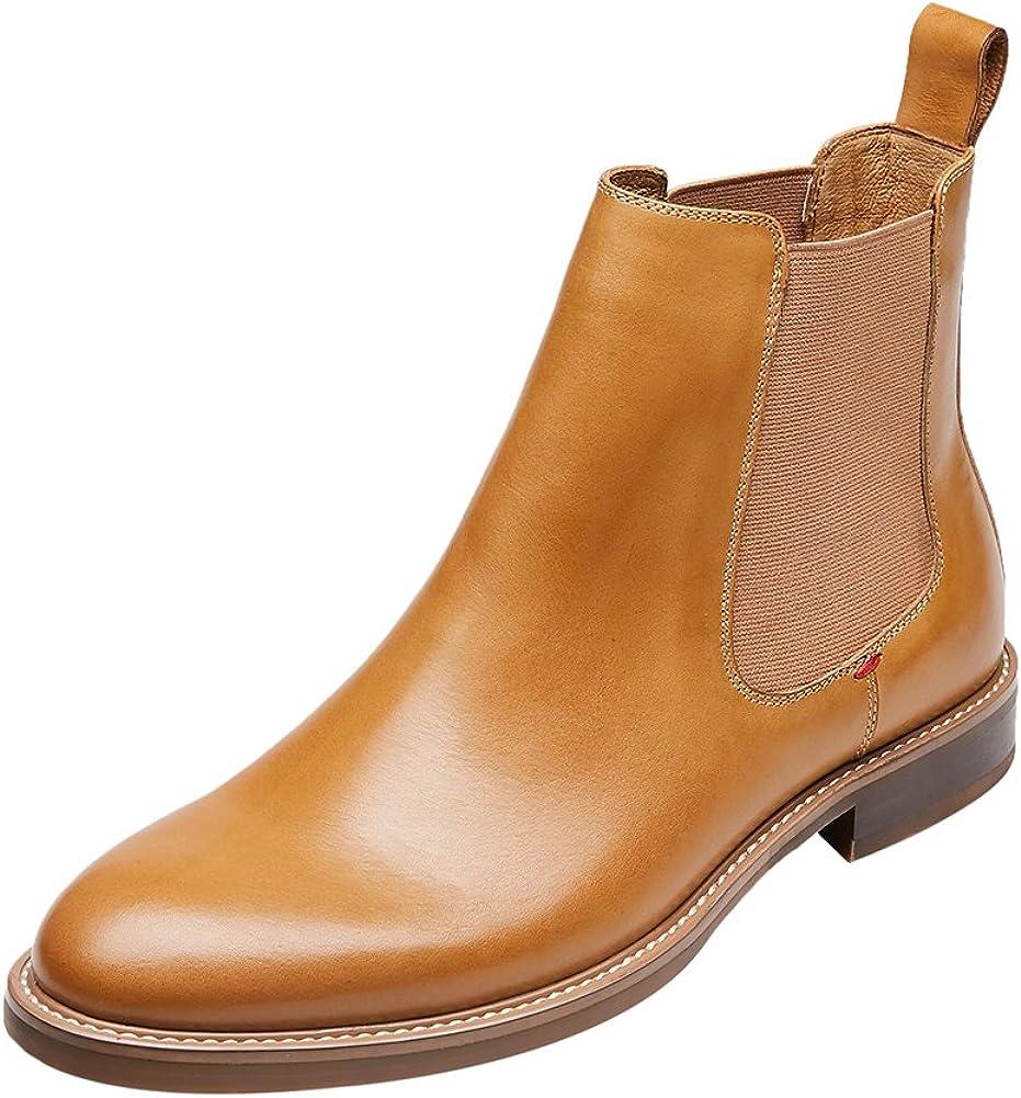KINGSTEP Men's Comfort Genuine Leather Round S Toe Chelsea Boots ついに再販開始 海外並行輸入正規品