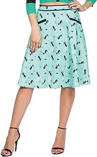 Voodoo Vixen Women's Emma Retro Mint Kitty Skirt