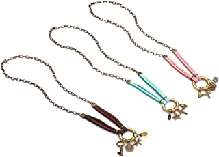 DEMDACO Inspirational Faux Suede Set of 3 Assorted Women's Zinc Alloy Fashion Charm Necklaces