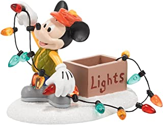 mickey mouse and friends singing christmas village