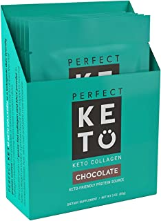 Perfect Keto Collagen Protein 5 Individual Single Serve (Chocolate)