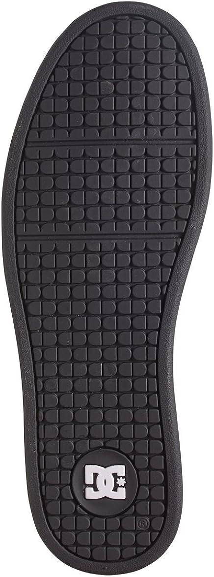 DC Men's Net Ankle-High Leather Skateboarding Shoe Nero Nero Bianco