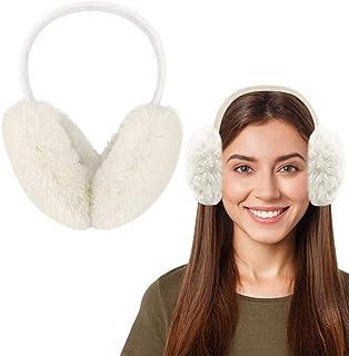Cache-oreilles en fausse fourrure Motif couronne de dessin anim/é ZLININ Y-longair Cache-oreilles r/églable en peluche pour femme Bleu