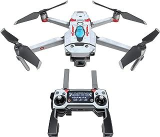 DJI Mavic 贴花套件 - 包括 1 个无人机/电池皮肤 + 控制器皮肤 Red Valkyrie Mavic 2/Zoom DJIM2-REDVALK
