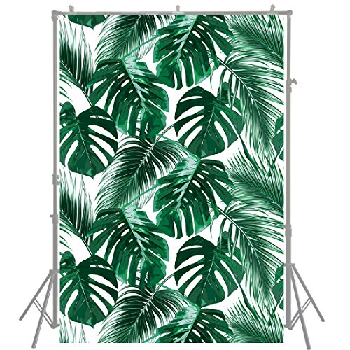 HUAYI 5x7ft Nature Backdrop Mysterious Tropical Jungle Cover Dark Green Palm Leaves Background for Photography Wedding Party Decoration Newborn Photography Baby Shower Xt-6196