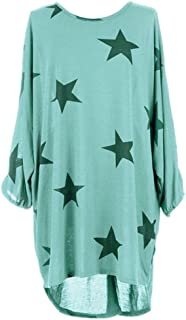 iOPQO Tops for Women, Ladies Plus Size Star Print Louboutin Tunic Tops Blouse