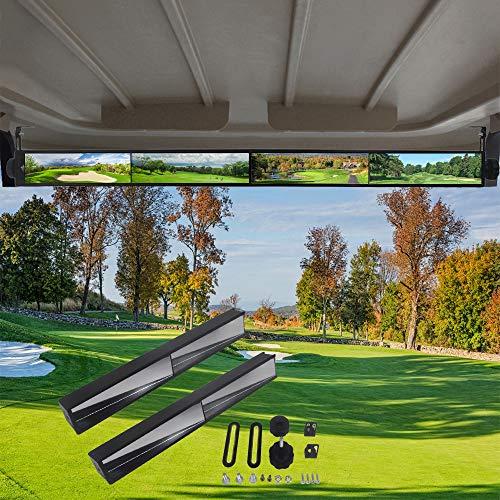 WLOOD Golf Cart Mirror,Universal 4 Panel Mirror fits Golf Carts EZGO, Club CAR ,Yamaha(Rear View Mirror )