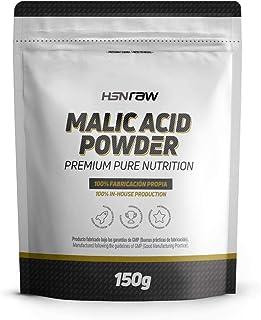 Ácido Málico en Polvo de HSN | Fomenta la Energía, Reduce la Fatiga, Mayor Rendimiento Deportivo, Recuperación Muscular | Vegetariano, Sin Lactosa, Sin sabor, 150g