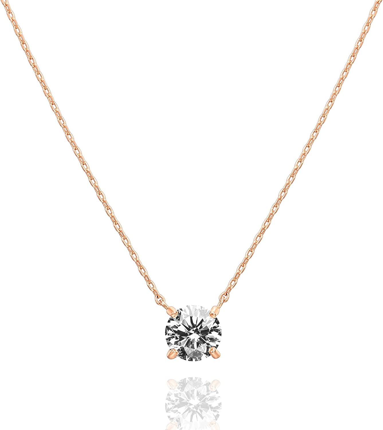 PAVOI Max 71% OFF 14K Gold Plated Swarovski Carat Crystal 7.3 1.5 Solitaire New Shipping Free Shipping