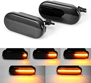 1 Pair Sequential LED Side Indicator Marker Light Kit Compatible with Volkswagen VW MK4 GTI R32 Golf Jetta Bora B5 B5.5 Passat New Beetle