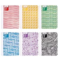 """Meadスパイラルノートブック、1Subject、Wide Ruled Paper、90シート、10–1/ 2"""" x 7–1/ 2インチ、デザインWill Vary ( 07166) 12 Pack"""