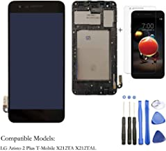 Eaglewireless LCD Display Screen Touch Digitizer Full Assembly Parts Replacement for LG Aristo 2 Plus T-Mobile X212TA X212TAL with Frame Housing+Tools ((NOT for Aristo 1st))