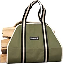Coltrane Firewood Carrier Heavy Duty Firewood Holder Utility Tote Log Holder Premium Firewood Tote Fireplace Accessories W...