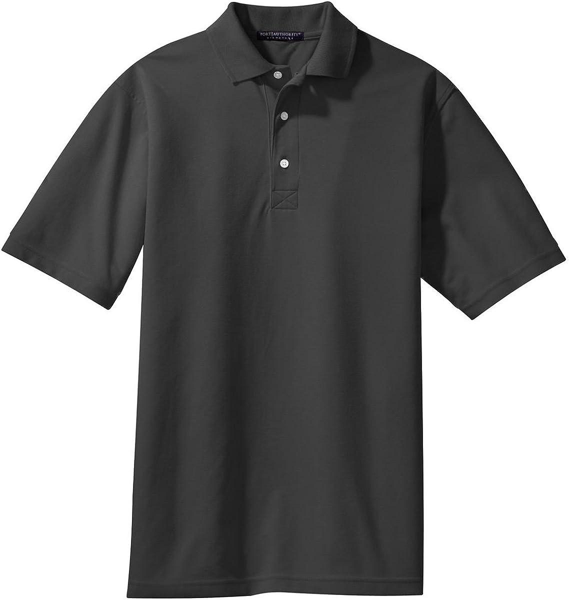 Port Authority Tall Rapid Dry Polo Shirt, XLT, Charcoal
